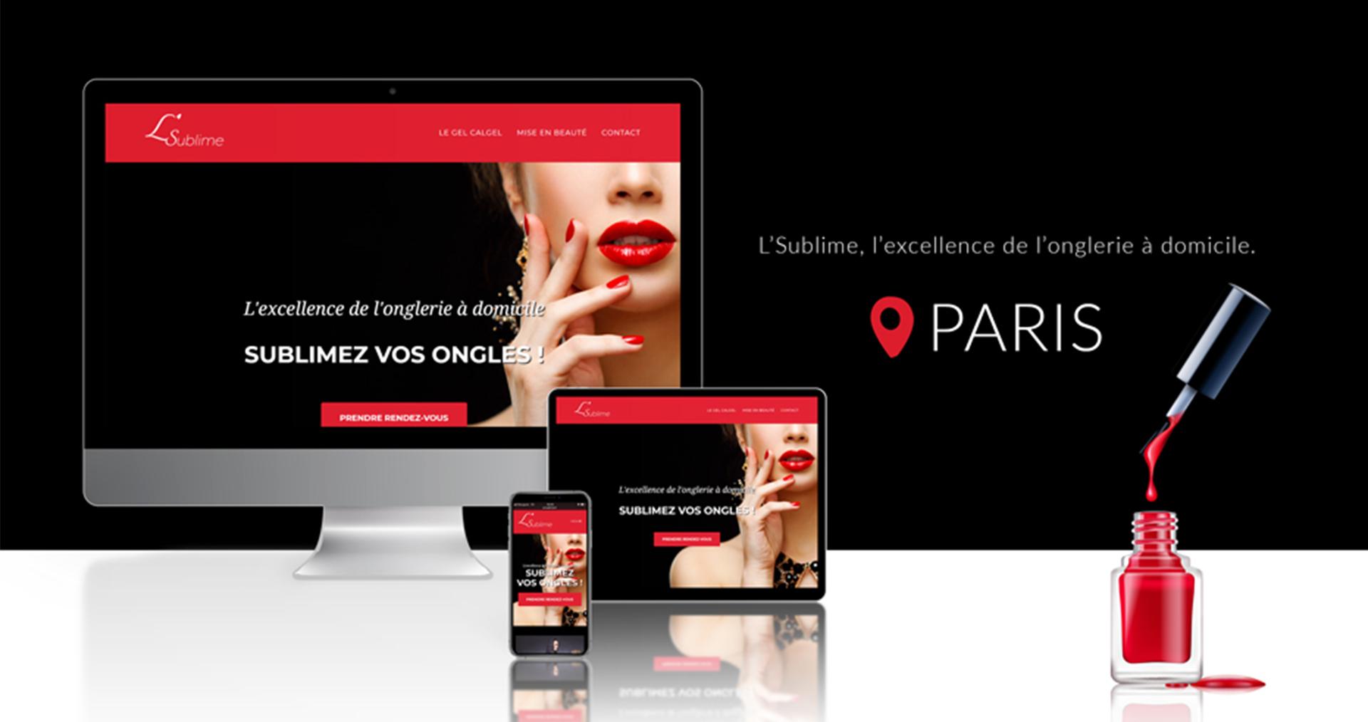 Création site internet beauté sur Paris par AC Médias