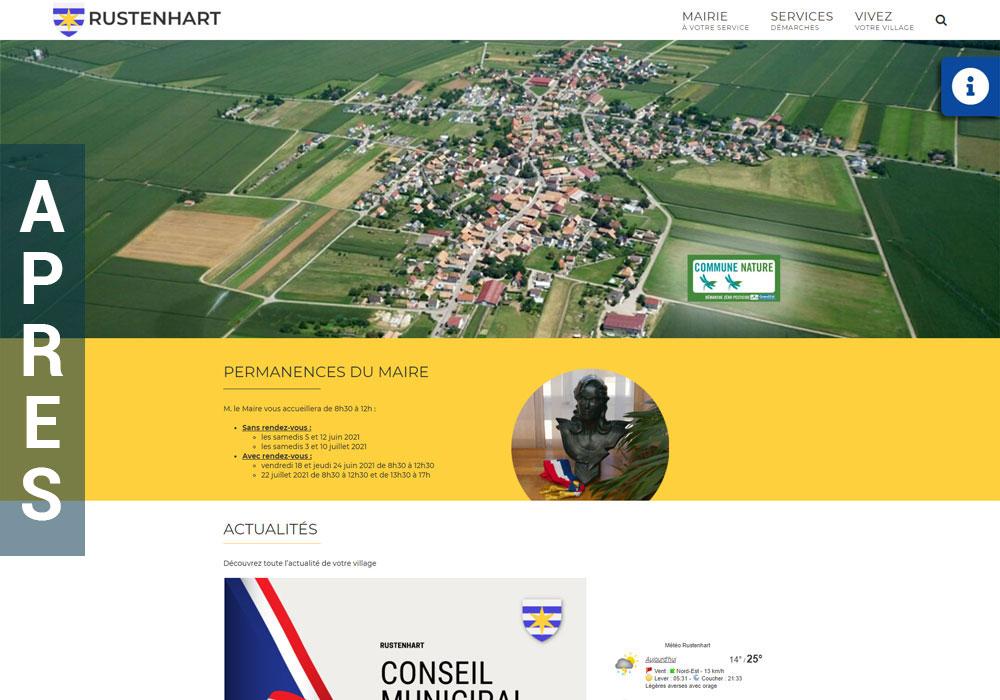 Nouvelle version du site internet de la mairie de rustenhart
