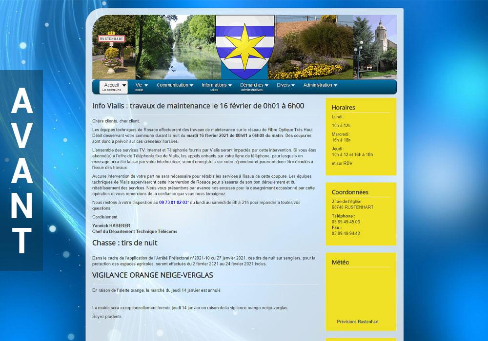Site de Rustenhart avant la refonte